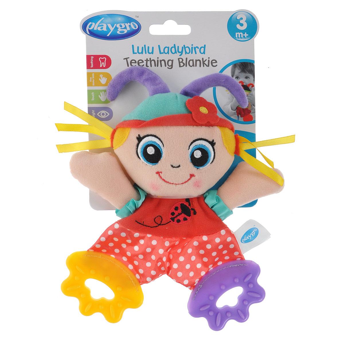 Игрушка-прорезыватель Playgro Божья коровка игрушки подвески playgro игрушка подвеска девочка божья коровка