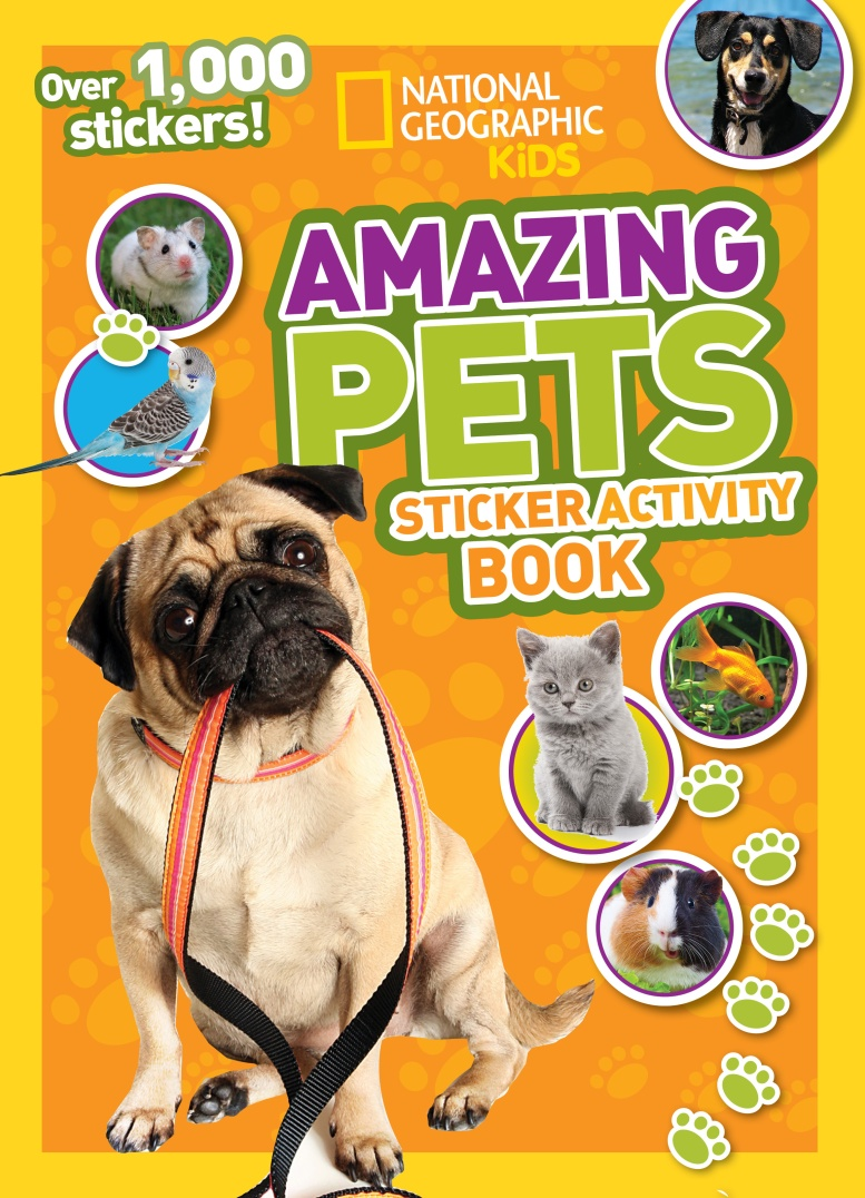 Amazing Pets: Sticker Activity Book 18 7 5cm my kids have paws animals pets dogs and cats window car stickers reflective stickers decals ct 478