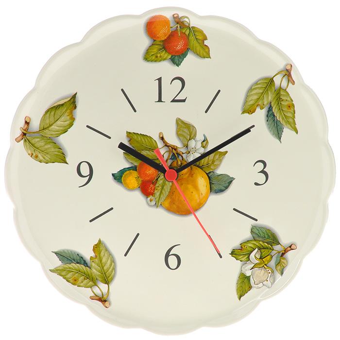 Часы настенные Nuova Cer Итальянские фрукты. NC3720-CEM-ALNC3720-CEM-ALНастенные часы Nuova Cer Итальянские фрукты в круглом корпусе изготовлены из керамики бежевого цвета. Изделие украшено красочным изображением. Часы имеют три стрелки - часовую, минутную и секундную. Индикация - арабскими цифрами и отметками.Такие часы прекрасно оформят интерьер кухни. Характеристики: Материал: керамика. Диаметр: 29 см. Толщина корпуса: 3 см. Цвет: бежевый. Необходимо докупить одну батарейку типа АА (в комплект не входит).
