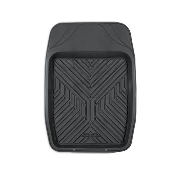 Коврик автомобильный Автопрофи / Autoprofi Groove, 1 шт, универсальный, термопласт, цвет: черный, 69 х 48 смTER-150f BKКоврик-ванночка для переднего ряда автомобиля Автопрофи / Autoprofi Groove обладает классическим дизайном. В качестве материала изделия используется термопласт-эластомер, который отличается небольшим весом, отсутствием характерного для резины запаха и сохраняет эластичность при температуре до -50 °С. Термопласт-эластомер обладает высокой износостойкостью и устойчив к воздействию агрессивных веществ - масел, топлива, дорожных реагентов и т. д. Высокие фрикционные свойства поверхности коврика не дают ему скользить по салону и под ногами. Благодаря наличию линий разреза можно самостоятельно корректировать размер и форму изделия, подгоняя его под конфигурацию днища автомобиля. Характеристики:Материал: термопласт-эластомер. Размер коврика: 690 мм х 480 мм. Температура использования: от -50 до +50 °С. Артикул: TER-150f BK.