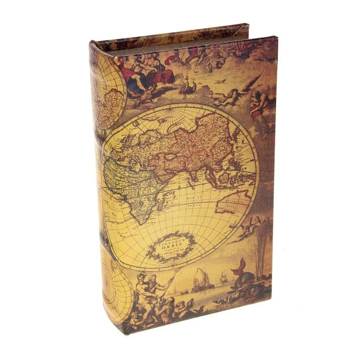 Сейф-книга География, 12,5 х 21 х 4,5 см 680688 корзина для белья sima land день стирки цвет розовый 35 см х 35 см х 55 см