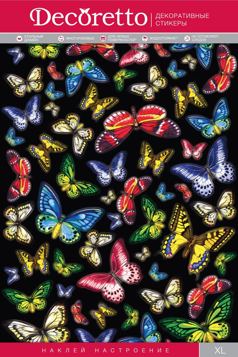 Украшение для стен и предметов интерьера Decoretto Тропические бабочкиAI 5004Украшение для стен и предметов интерьера Decoretto Тропические бабочки - это удивительно простой и быстрый способ оживить интерьер помещения. Интерьерные наклейки дадут вам вдохновение, которое изменит вашу жизнь и поможет погрузиться в мир ярких красок, фантазий и творчества. Украшение состоит из 57 самоклеющихся элементов. Преимущества украшений Decoretto: - изготовлены из экологически безопасной самоклеющейся виниловой пленки с водоотталкивающей поверхностью, абсолютно безопасны для здоровья детей; - быстро и легко наклеиваются на любые ровные поверхности: стены, окна, двери, кафельную плитку, виниловые и флизелиновые обои, стекла, мебель; - при необходимости удобно снимаются, не оставляют следов и не повреждают поверхность (кроме бумажных обоев); - многоразовые - если вы решите изменить композицию, то просто снимите наклейки и наклейте их в другом месте; - специальный слой защищает поверхность от влаги и выгорания.Decoretto поможет изменить интерьер вокруг себя: в детской комнате и гостиной, на кухне и в прихожей, витрину кафе и магазина, детский садик и офис.