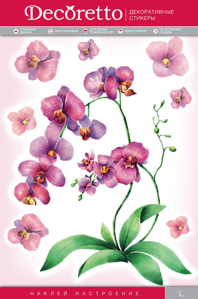 Украшение для стен и предметов интерьера Decoretto Акварельная орхидеяFI 4004Украшение для стен и предметов интерьера Decoretto Акварельная орхидея - это удивительно простой и быстрый способ оживить интерьер помещения. Интерьерные наклейки дадут вам вдохновение, которое изменит вашу жизнь и поможет погрузиться в мир ярких красок, фантазий и творчества. Украшение состоит из 1 основного и 7 дополнительных самоклеющихся элементов. Преимущества украшений Decoretto: - изготовлены из экологически безопасной самоклеющейся виниловой пленки с водоотталкивающей поверхностью, абсолютно безопасны для здоровья детей; - быстро и легко наклеиваются на любые ровные поверхности: стены, окна, двери, кафельную плитку, виниловые и флизелиновые обои, стекла, мебель; - при необходимости удобно снимаются, не оставляют следов и не повреждают поверхность (кроме бумажных обоев); - многоразовые - если вы решите изменить композицию, то просто снимите наклейки и наклейте их в другом месте; - специальный слой защищает поверхность от влаги и выгорания.Decoretto поможет изменить интерьер вокруг себя: в детской комнате и гостиной, на кухне и в прихожей, витрину кафе и магазина, детский садик и офис.