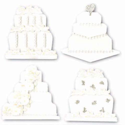 Стикеры объемные EKSuccess Tools Свадебные торты, 4 предметаEKS-SPJB577Стикеры объемные EKSuccess Tools Свадебные торты прекрасно подойдут для оформления творческих работ в технике скрапбукинга. Их можно использовать для украшения фотоальбомов, скрап-страничек, подарков, конвертов, фоторамок, открыток и т.д. Стикеры оформлены в виде свадебных цветов. Задняя сторона клейкая. В наборе - 4 стикера разного размера и дизайна. Скрапбукинг - это хобби, которое способно приносить массу приятных эмоций не только человеку, который этим занимается, но и его близким, друзьям, родным. Это невероятно увлекательное занятие, которое поможет вам сохранить наиболее памятные и яркие моменты вашей жизни, а также интересно оформить интерьер дома.