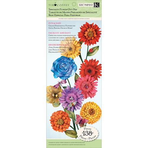 Набор бумаги с вырубкой K&Company Цветы. Сад, 32 х 12 см, 138 шт купить коверлок juki mo 735