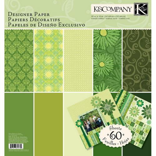 Набор бумаги бумаги для скрапбукинга K&Company Зеленый тон. Базовые цвета, 30,48 см х 30,48 см, 60 листовKCO-30-621701Набор декоративной бумаги K&Company Зеленый тон. Базовые цвета идеально подходит для скрапбукинга - при создании фотоальбомов, подарков, фоторамок, открыток, в декоре и т.п. Не содержит лигнин и кислоты. В наборе 60 листов размером 30,48 см х 30,48 см.