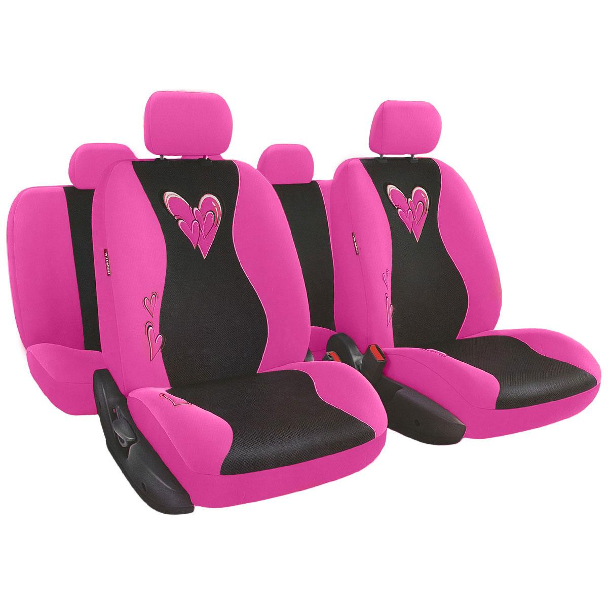 Набор авточехлов Autoprofi Glamour, велюр, цвет: розовый, 13 предметовGLM-1105 PINKМодель автомобильных чехлов Glamour разработана специально для милых дам. Очаровательный двухцветный дизайн и мягкие расцветки чехлов помогают придать салону автомобиля атмосферу гламура и чисто женского шарма.Нежный велюр и объемная сетчатая ткань чехлов делают их очень привлекательными и приятными на ощупь. Высококачественные материалы, триплированные толстым слоем поролона, способствуют улучшенной вентиляции кресел и позволяют сделать комфортными и неутомительными даже долгие поездки.Основные особенности авточехлов Glamour:- 3 молнии в спинке заднего ряда; - 3 молнии в сиденье заднего ряда; - карманы в спинках передних сидений; - крепление передних спинок липучками; - предустановленные крючки на широких резинках;- толщина поролона: 5 мм.Комплектация: - 1 сиденье заднего ряда; - 1 спинка заднего ряда; - 2 сиденья переднего ряда; - 2 спинки переднего ряда; - 5 подголовников; - набор фиксирующих крючков.