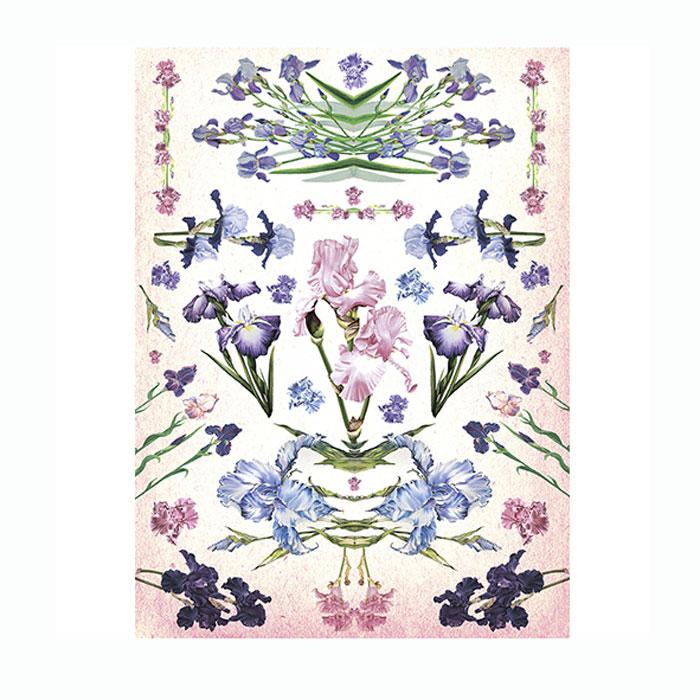 Рисовая бумага для декупажа Craft Premier Зеркальные ирисы, A3CP06419