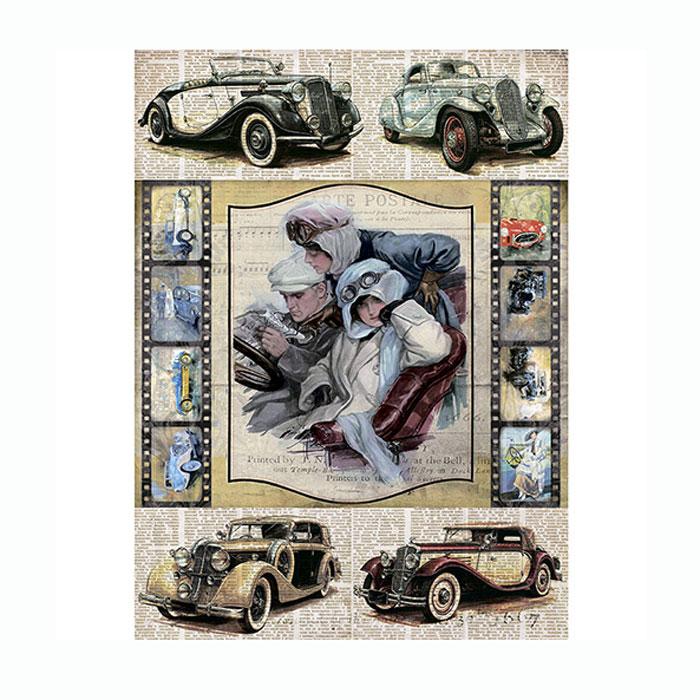 Рисовая бумага для декупажа Craft Premier Автоледи. Вояж, A3CP00528