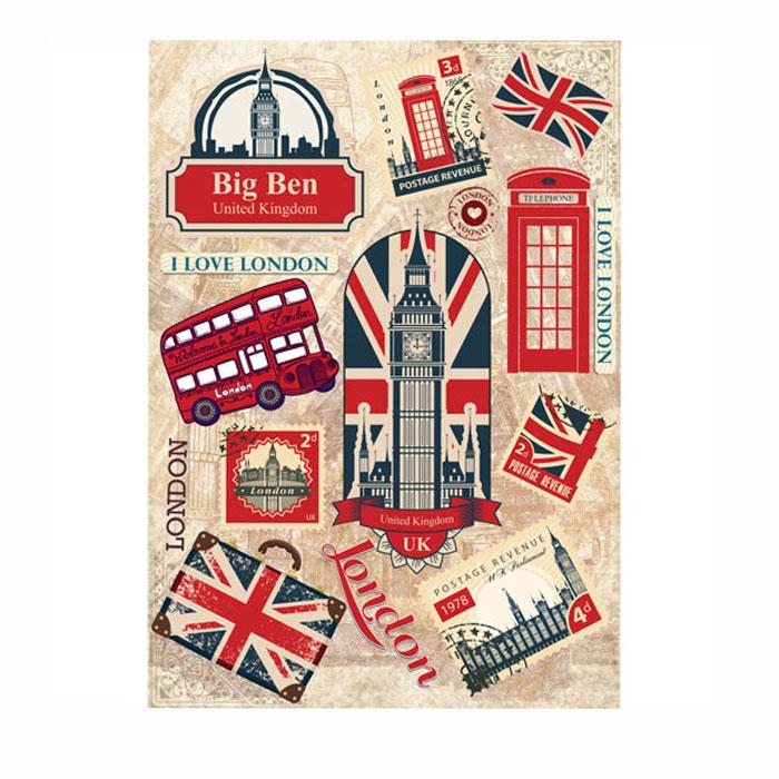 Рисовая бумага для декупажа Craft Premier Символы Лондона, A3CP01723