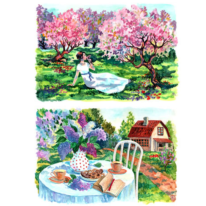Рисовая бумага для декупажа Craft Premier Яблоневый сад, A3CP01792