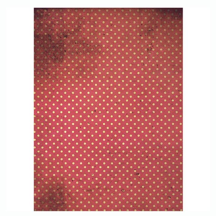 Рисовая бумага для декупажа Craft Premier Красный горох, A3CP01525