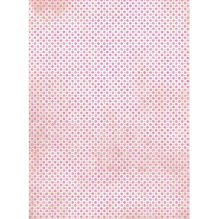 Рисовая бумага для декупажа Craft Premier Розовый горох, A3CP01549