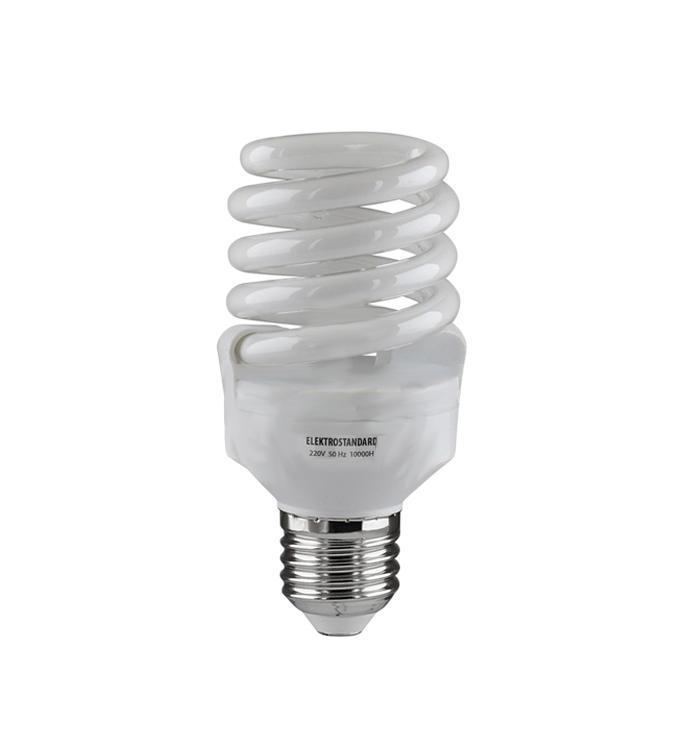 Elektrostandard лампа энергосберегающая Компакт винт, теплый свет, цоколь Е27, 20Wa024279Энергосберегающая лампа Электростандарт Компакт винт способствует расслаблению, ее лучше использовать в спальнях, местах отдыха. Сфера применения энергосберегающей лампы Электростандарт та же, что и у лампы накаливания, но данная лампа имеет ряд преимуществ: температура колбы ниже, чем у ламп накаливания, что позволяет использовать энергосберегающие лампы в тканевых абажурах без риска их выцветания и возникновения пожара; полностью заменяет галогенные и обычные лампы накаливания. Лампа обладает высоким индексом цветопередачи Ra >80. Это означает, что все цвета объектов, освещаемые лампой, выглядят естественно и натурально. Лампа оборудована системой плавного запуска, позволяющего лампе загораться постепенно в течение 1-2 секунд. Электронное пускорегулирующее устройство не вызывает стробоскопического эффекта при работе лампы, что оказывает благоприятное воздействие на глаза человека и его нервную систему.Напряжение: 220 вольт