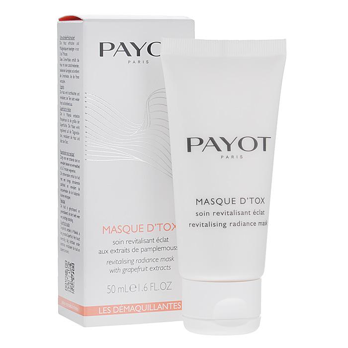 Payot Маска-детокс для лица, очищающая, 50 мл65074180Маска глубоко очищает и смягчает; осветляет кожу и поглощает излишки себума; снимает напряжение, возвращает коже сияние.Нанесите маску на сухую кожу лица и шеи; оставьте на 10 минут; смойте водой, затем используйте тоник.