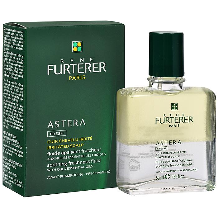 Rene Furterer Флюид Astera успокаивающий, с охлаждающими маслами, для чувствительной кожи головы, 50 мл3282779366557Средство для ухода и лечения раздраженной и чувствительной кожи головы.Успокаивающий флюид снимает раздражение уже после первого применения. Имеет двухфазную формулу, которая способствует оздоровлению кожи головы, восстанавливает гидро-липидный баланс и дарит коже ощущение комфорта. Стимулирует обновление клеток и заживляет. Идеально подходит для релаксирующего массажа.Экстракт астеры (семейство астровых) - успокаивает, устраняет раздражение, шелушение, зуд.Эфирные масла мяты и эвкалипта + камфора - очищают и освежают кожу головы.Растительный сквален - восстанавливает гидролипидный баланс.Витамины A, E, F активируют клеточную регенерацию, нейтрализуют действие свободных радикалов. Способ применения: равномерно нанести на кожу головы, помассировать для лучшего впитывания и оставить на 10 мин. Затем нанести продукт для лечебного ухода. Используется 1-2 раза в неделю.