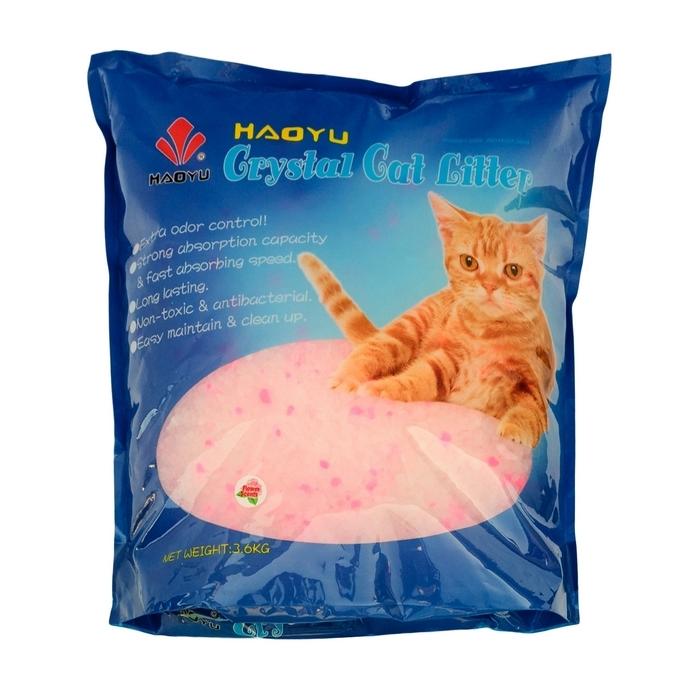 Наполнитель для кошачьего туалета Haoyu  Crystal Cat Litter , силикагелевый, с цветочным ароматом, 3,6 кг - Наполнители и туалетные принадлежности