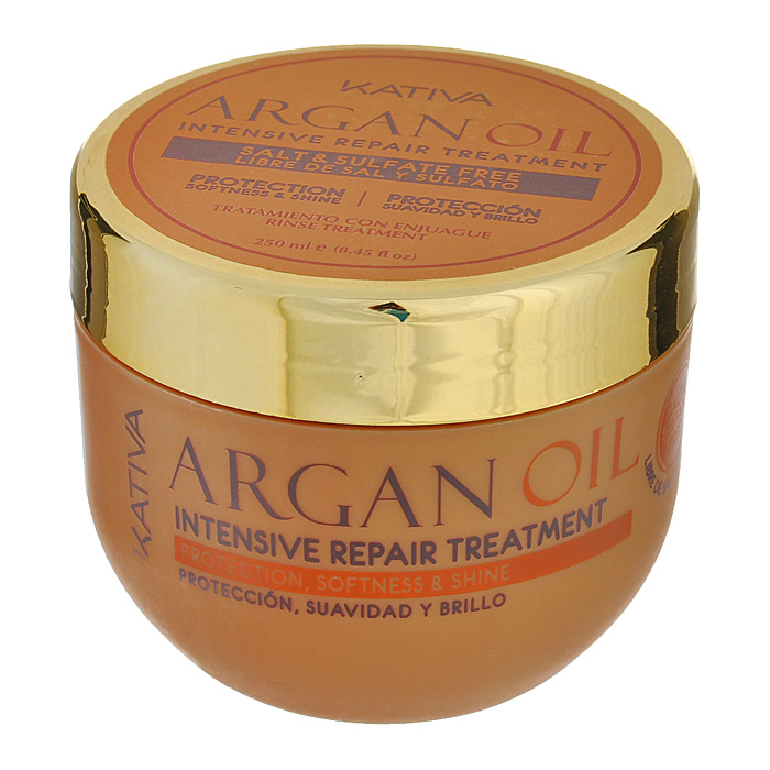 Kativa Интенсивно восстанавливающий увлажняющий уход с маслом Арганы ARGAN OIL65807249Средство обеспечивает интенсивное пролонгированное увлажнение и питание вашим волосам. Они великолепно защищены от негативного воздействия внешних факторов, таких как ультрафиолет, частая укладка волос или выпрямление с помощью парикмахерского утюжка. Маска возвращает волосам упругость и эластичность, делая их гладкими и ухоженными. Обеспечивает эластичность, выносливость и придает блеск волосам. Способ применения: нанести на чистые влажные волосы по всей длине. Оставить на 5-10 минут для глубокого воздействия, а затем тщательно смыть.