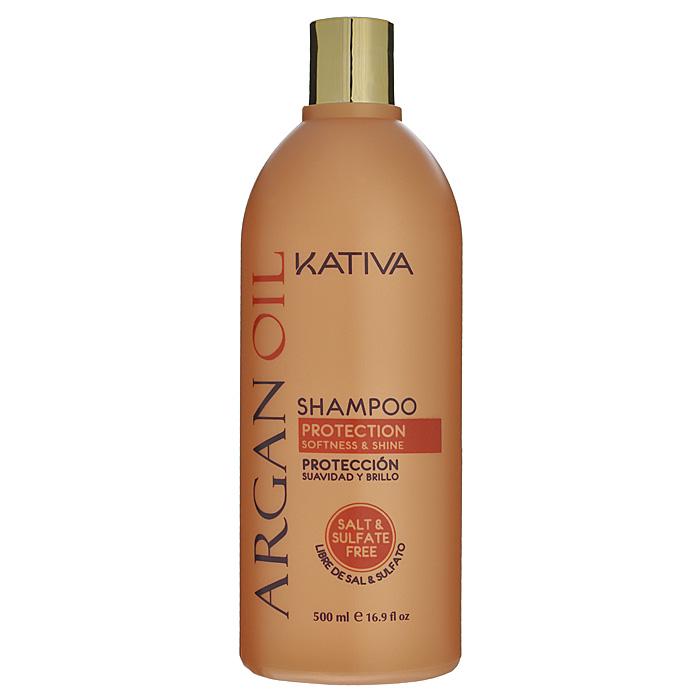 Kativa Увлажняющий шампунь с маслом Арганы ARGAN OIL, 500мл косметические маски kativa интенсивный уход защита цвета kativa для всех типов волос quinua 500 мл