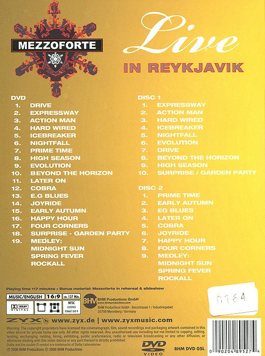 Mezzoforte:  Live In Reykjavik.  Deluxe Edition (DVD + 2 CD) ZYX Music