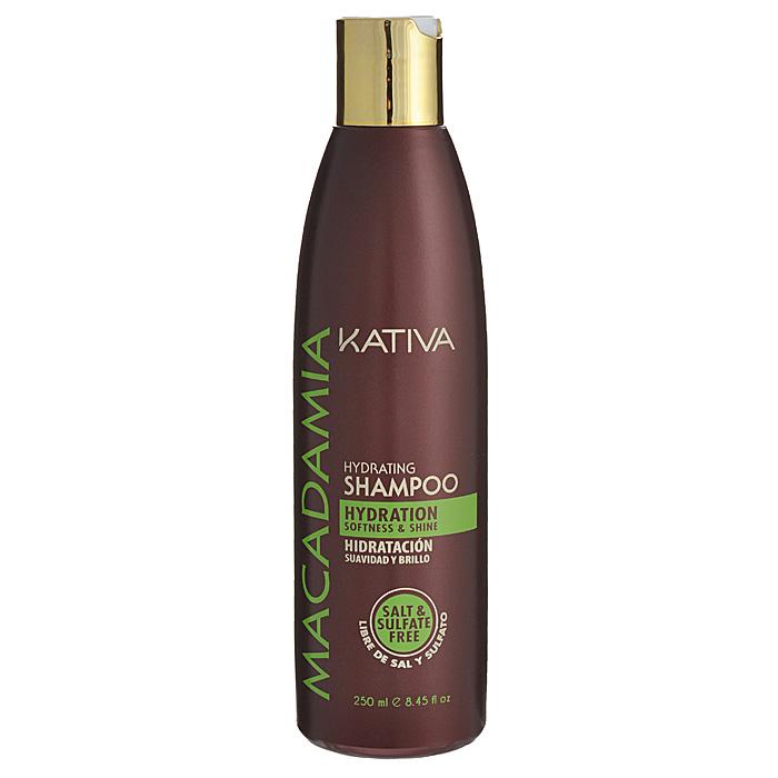 Kativa Интенсивно увлажняющий шампунь для нормальных и поврежденных волос MACADAMIA, 250мл65808406Шампунь обеспечивает превосходное увлажнение и питание поврежденным волосам. Масло макадамии, являющееся основным компонентом шампуня, устраняет сухость волос, предупреждая расслаивание кончиков. Гладкость и блеск шелка ваших волос перестанут быть роскошью!Способ применения: равномерно нанесите на влажные волосы, вспеньте и сделайте легкий массаж. Тщательно смойте. При необходимости повторите процедуру.