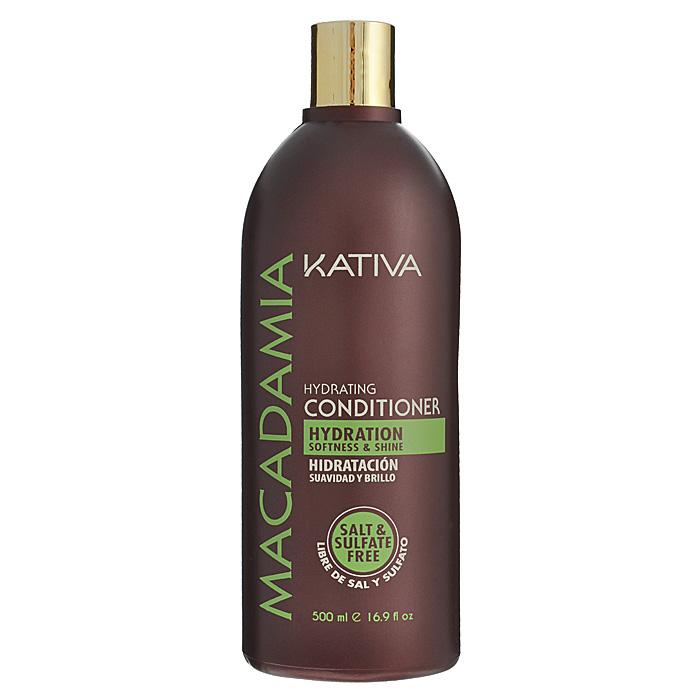 Kativa Интенсивно увлажняющий кондиционер для нормальных и поврежденных волос MACADAMIA, 500мл65866207Бальзам интенсивно увлажняет и восстанавливает волосы по всей длине, предотвращая появление секущихся кончиков. Уже после первого применения волосы становятся мягкими на ощупь, гладкими и сияют желанным блеском. Увлажняет и защищает волосы, придавая им мягкость и блеск. Увлажняет и оживляет с первого применения. Способ применения: нанесите на чистые вымытые волосы только по длине, оставьте на 2-3 минуты для лучшего воздействия, а затем тщательно смойте.