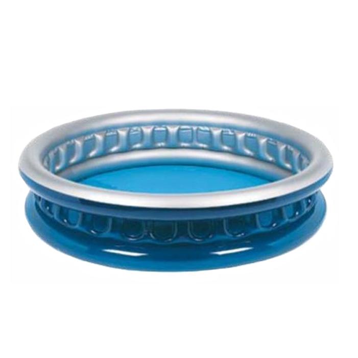Бассейн надувной Jilong Soft Side, цвет: синий, 175 х 35 смJL010271NPFКруглый надувной бассейн Jilong Soft Side идеально подойдет для детского и семейного отдыха на загородном участке. Бассейн изготовлен из прочного ПВХ. Комфортный дизайн бассейна и приятная цветовая гамма сделают его не только незаменимым атрибутом летнего отдыха, но и оригинальным дополнением ландшафтного дизайна участка. В комплект с бассейном входит заплатка для ремонта в случае прокола.