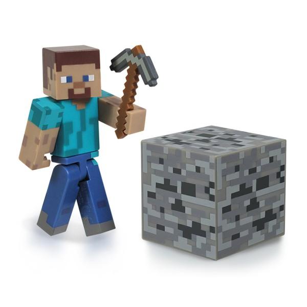 фигурка minecraft стив и лошадь с аксессуарами 16593 Фигурка Minecraft Игрок Steve, с аксессуарами