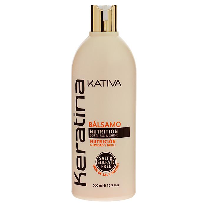 Kativa Укрепляющий бальзам-кондиционер с кератином для всех типов волос KERATINA, 500 мл65866212Укрепляющий бальзам-кондиционер превосходно восстанавливает природную упругость и поврежденных и чувствительных прочность волос, укрепляет их, придавая блеск и мягкость. Придает им игривый блеск, облегчает расчесывание и защищает от воздействия внешних факторов.Бальзам обогащен аргановым маслом и кератином. Не содержит сульфата.Способ применения: нанесите на чистые вымытые волосы только по длине, оставьте на 5 минут для воздействия, а затем тщательно смойте.Товар сертифицирован.