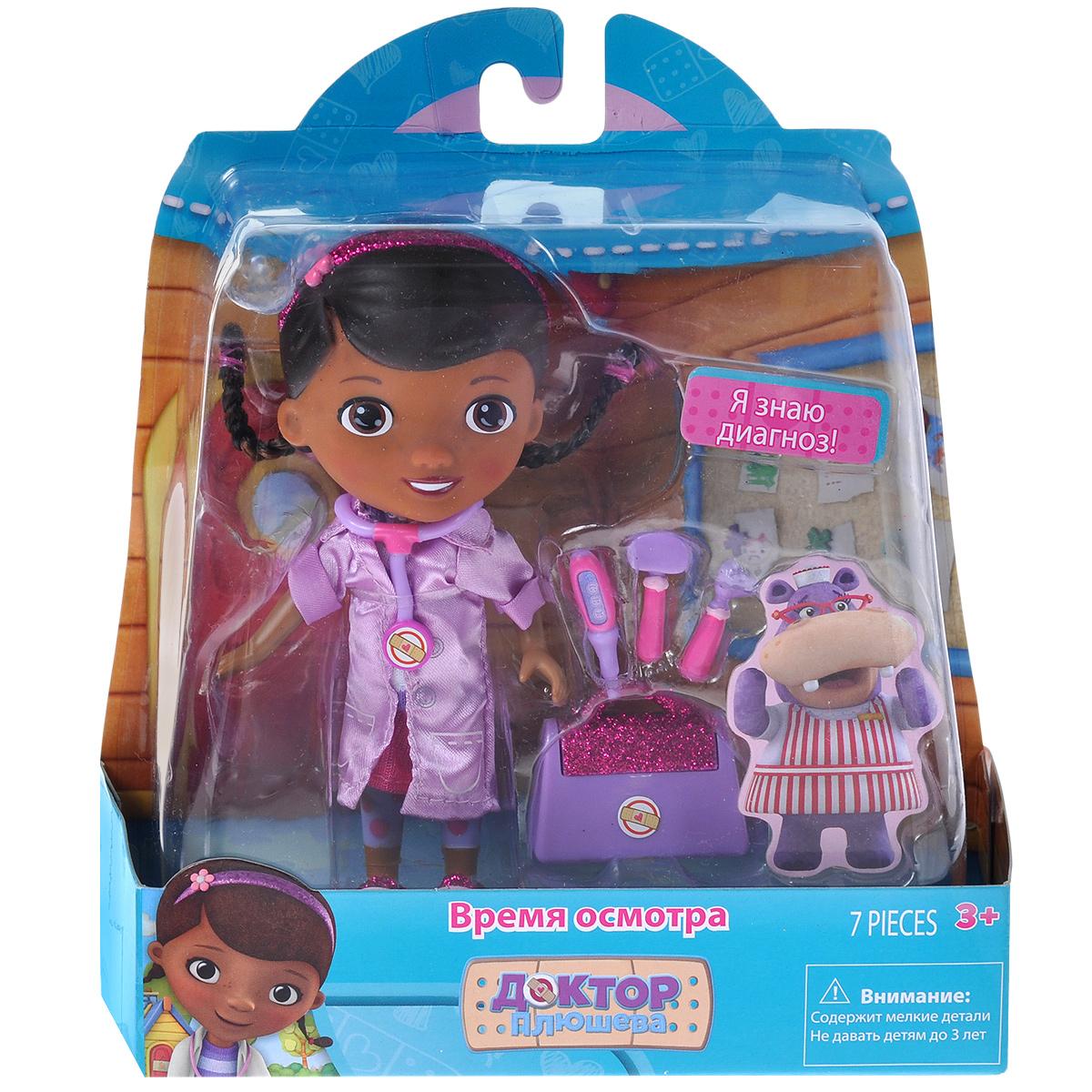 Доктор Плюшева Игровой набор с куклой Время осмотра цвет халата сиреневый veld co игровой набор с куклой юный доктор