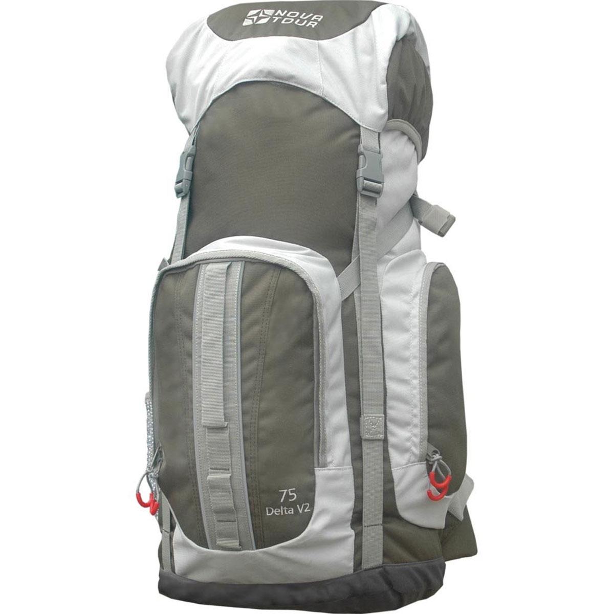 """Рюкзак туристический Nova Tour """"Дельта 75 V2"""", цвет: серый, оливковый. 12463-560-00"""