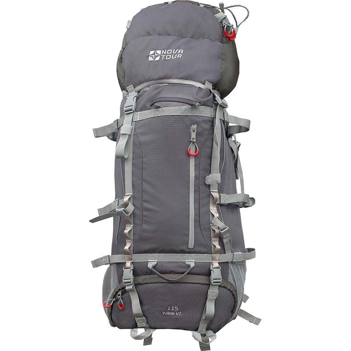 """Рюкзак туристический  Nova Tour """"Юкон 115 V2"""", цвет: серый, оливковый. 11213-560-00"""