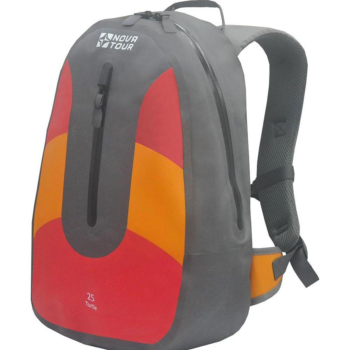 Рюкзак водонепроницаемый Nova Tour Черепаха 25, цвет: серый, красный, оранжевый. 95140-471-0095140-471-00Специально для динамичных людей создан этот яркий и стильный рюкзак. В нем помещается все, что нужно взять с собой в спортзал или бассейн, покататься с друзьями на роликах, съездить на природу на велосипеде или просто весело провести время после учебы.Объем: 25 литров.