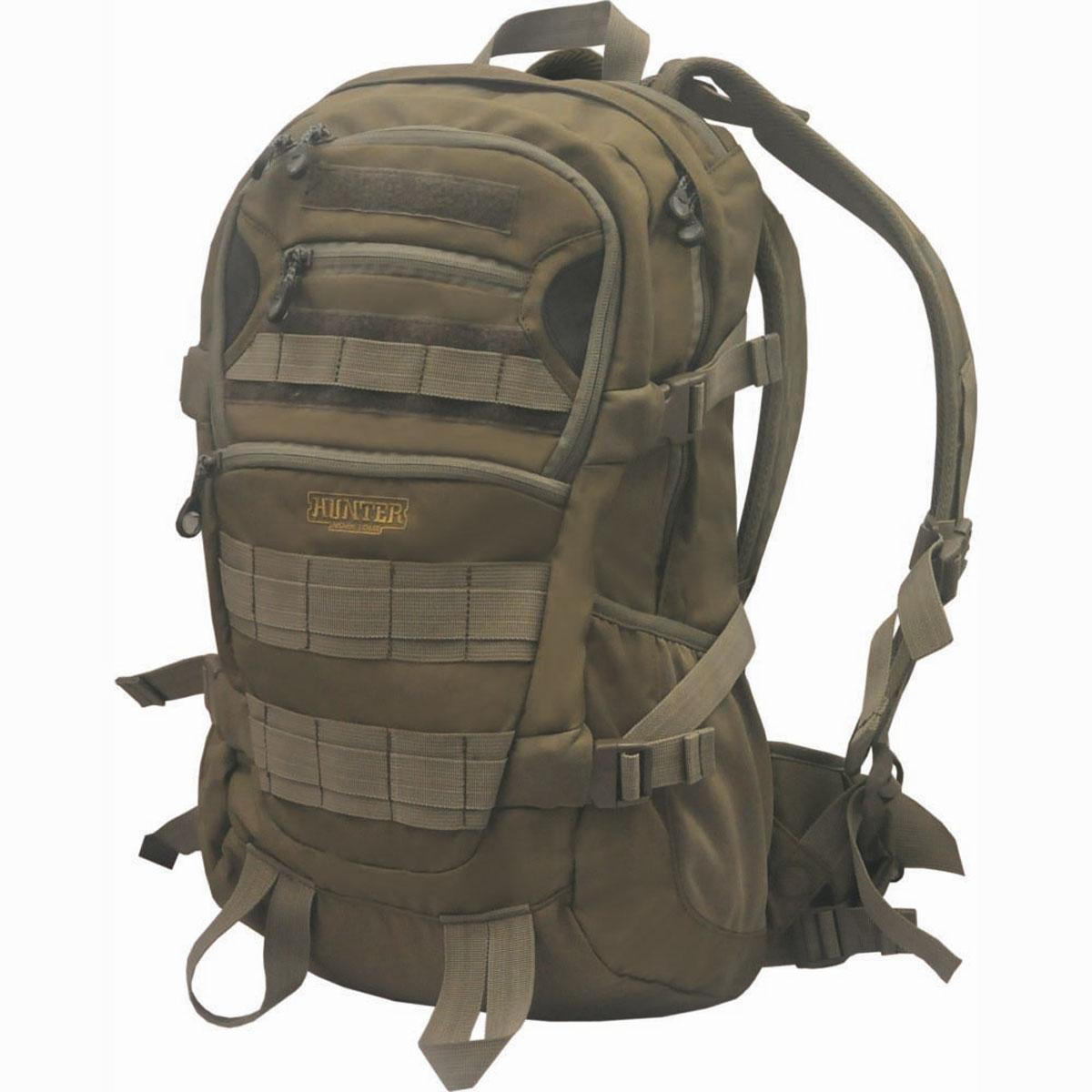 Рюкзак охотничий Hunter Nova Tour Тактика 32, цвет: коричневый. 95126-228-0095126-228-00Тактический рюкзак для пешей охоты. Два больших отделения для снаряжения, множество карманов для всяких мелочей, стропы для внешней навески.Ткань: 600D Polyester.Объем: 32 л