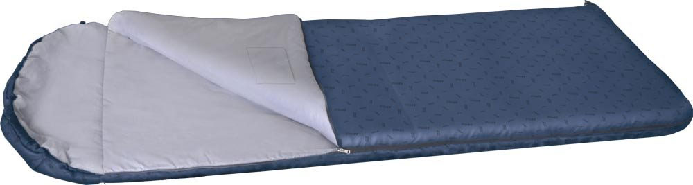 Спальный мешок NOVA TOUR Карелия 300, с подголовником, левосторонняя молния, цвет: синий