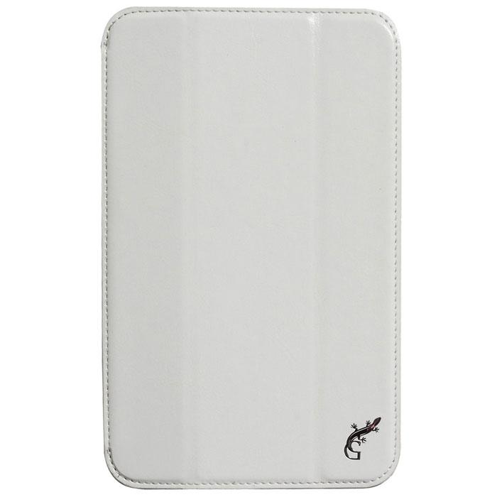G-case Executive чехол для Lenovo IdeaTab A3500, WhiteGG-380Чехол-обложка G-case Executive для Lenovo IdeaTab A3500 (A7-50) позволит вам уберечь ваше мобильное устройство от сколов, царапин, трещин и загрязнений. Чехол точно рассчитан на данную модель планшета, отлично сидит и не мешает работать с разъемами и камерой девайса. Также он может служить в качестве удобной многопозиционной подставки. Чехол G-case Executive выполнен из высококачественной кожи, что дает возможность сочетать этот аксессуар с любым гардеробом.