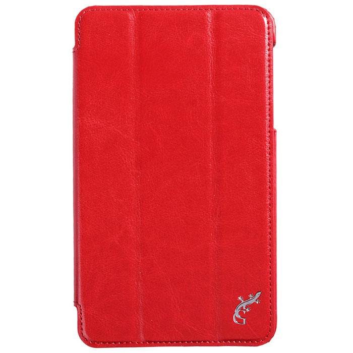 G-case Slim Premium чехол для Samsung Galaxy Tab 4 7.0, RedGG-341Стильный чехол-книжка G-case Slim Premium для Samsung Galaxy Tab 4 7.0 представляет собой очень полезный аксессуар,основная функция которого защищать планшет от неблагоприятных внешних воздействий. Он выполнен в очень элегантном стиле из высококачественной кожи. Чехол поможет при ударах и падениях, смягчая удары, не позволяя образовываться на корпусе царапинам и потертостям. Он идеально повторяет формы планшета и при этом надежно защищает каждую грань устройства. Все разъемы остаются свободны, а доступ к экрану осуществляется легким движением руки. Кроме того, чехол G-Case Slim Premium можно использовать в качестве двухпозиционной подставки.