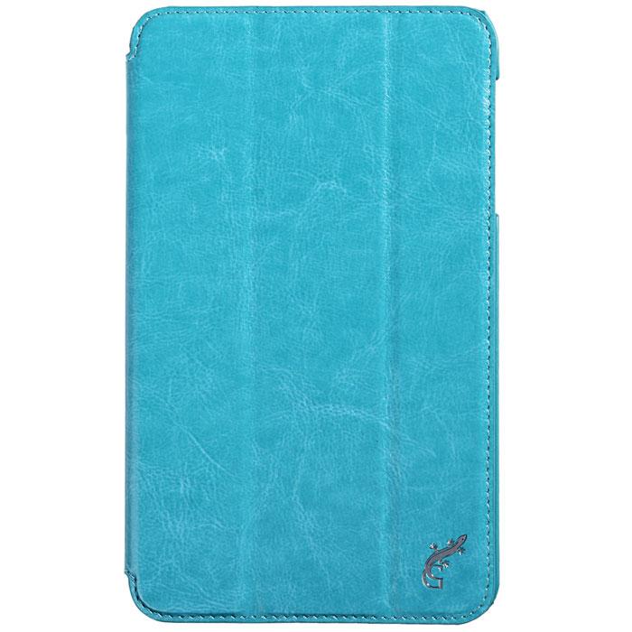G-case Slim Premium чехол для Samsung Galaxy Tab 4 8.0, Light BlueGG-364Стильный чехол-книжка G-case Slim Premium для Samsung Galaxy Tab 4 8.0 представляет собой очень полезный аксессуар,основная функция которого защищать планшет от неблагоприятных внешних воздействий. Он выполнен в очень элегантном стиле из высококачественной кожи. Чехол поможет при ударах и падениях, смягчая удары, не позволяя образовываться на корпусе царапинам и потертостям. Он идеально повторяет формы планшета и при этом надежно защищает каждую грань устройства. Все разъемы остаются свободны, а доступ к экрану осуществляется легким движением руки. Кроме того, чехол G-Case Slim Premium можно использовать в качестве двухпозиционной подставки.
