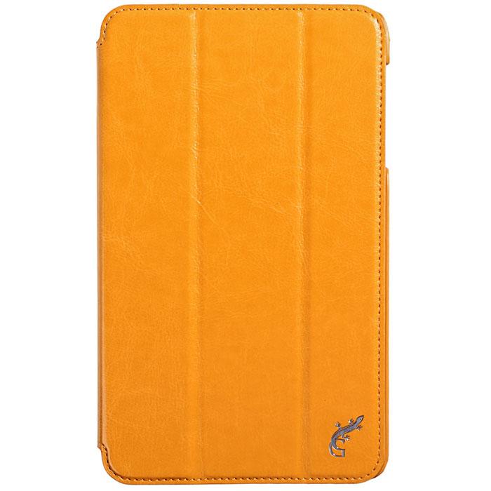 G-case Slim Premium чехол для Samsung Galaxy Tab 4 8.0, OrangeGG-367Стильный чехол-книжка G-case Slim Premium для Samsung Galaxy Tab 4 8.0 представляет собой очень полезный аксессуар,основная функция которого защищать планшет от неблагоприятных внешних воздействий. Он выполнен в очень элегантном стиле из высококачественной кожи. Чехол поможет при ударах и падениях, смягчая удары, не позволяя образовываться на корпусе царапинам и потертостям. Он идеально повторяет формы планшета и при этом надежно защищает каждую грань устройства. Все разъемы остаются свободны, а доступ к экрану осуществляется легким движением руки. Кроме того, чехол G-Case Slim Premium можно использовать в качестве двухпозиционной подставки.
