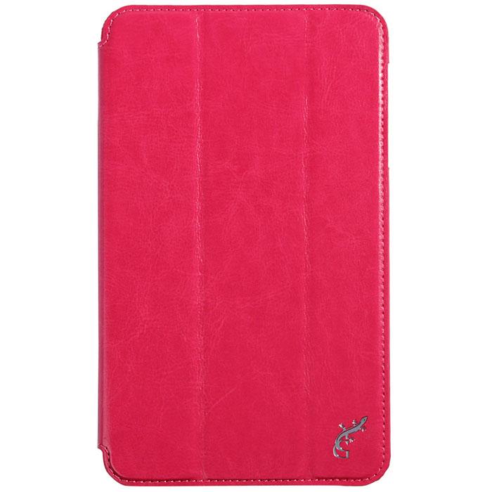 G-case Slim Premium чехол для Samsung Galaxy Tab 4 8.0, PinkGG-363Стильный чехол-книжка G-case Slim Premium для Samsung Galaxy Tab 4 8.0 представляет собой очень полезный аксессуар,основная функция которого защищать планшет от неблагоприятных внешних воздействий. Он выполнен в очень элегантном стиле из высококачественной кожи. Чехол поможет при ударах и падениях, смягчая удары, не позволяя образовываться на корпусе царапинам и потертостям. Он идеально повторяет формы планшета и при этом надежно защищает каждую грань устройства. Все разъемы остаются свободны, а доступ к экрану осуществляется легким движением руки. Кроме того, чехол G-Case Slim Premium можно использовать в качестве двухпозиционной подставки.