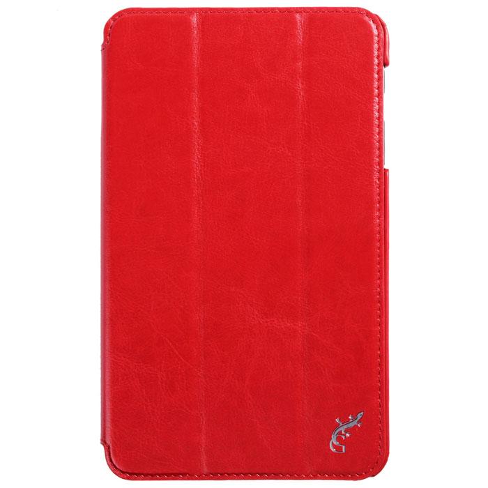 G-case Slim Premium чехол для Samsung Galaxy Tab 4 8.0, RedGG-361Стильный чехол-книжка G-case Slim Premium для Samsung Galaxy Tab 4 8.0 представляет собой очень полезный аксессуар,основная функция которого защищать планшет от неблагоприятных внешних воздействий. Он выполнен в очень элегантном стиле из высококачественной кожи. Чехол поможет при ударах и падениях, смягчая удары, не позволяя образовываться на корпусе царапинам и потертостям. Он идеально повторяет формы планшета и при этом надежно защищает каждую грань устройства. Все разъемы остаются свободны, а доступ к экрану осуществляется легким движением руки. Кроме того, чехол G-Case Slim Premium можно использовать в качестве двухпозиционной подставки.