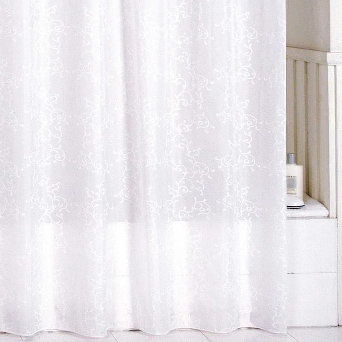 Штора для ванной комнаты Milardo Winter Leaf, 180 х 200 см SCMI081PSCMI081PШтора для ванной комнаты Milardo, изготовлена из полиэстера с водоотталкивающей пропиткой, декорирована витиеватым рисунком. Штора быстро сохнет, легко моется (разрешена деликатная стирка в стиральной машине при температуре 30°С без отжима) и обладает повышенной износостойкостью, благодаря двойной обработке краев и устойчивым красителям. Вверху предусмотрены пластиковые люверсы. В комплекте также имеется 12 пластиковых колец. Штора для ванной Milardo порадует вас своим ярким дизайном и добавит уюта в ванную комнату.