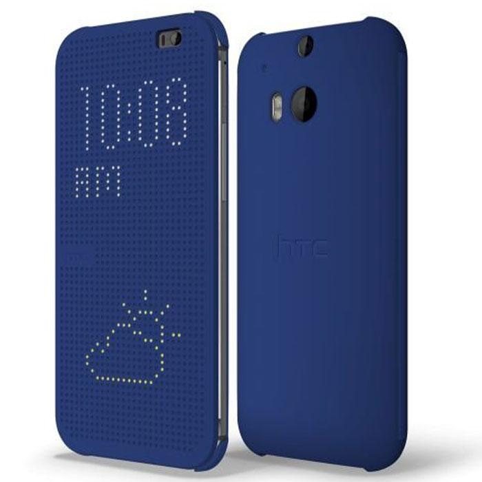 HTC Dot View HC M100 чехол для One 2 (M8), Blue держатель onetto mount easy view 2 white gp4&sm6w