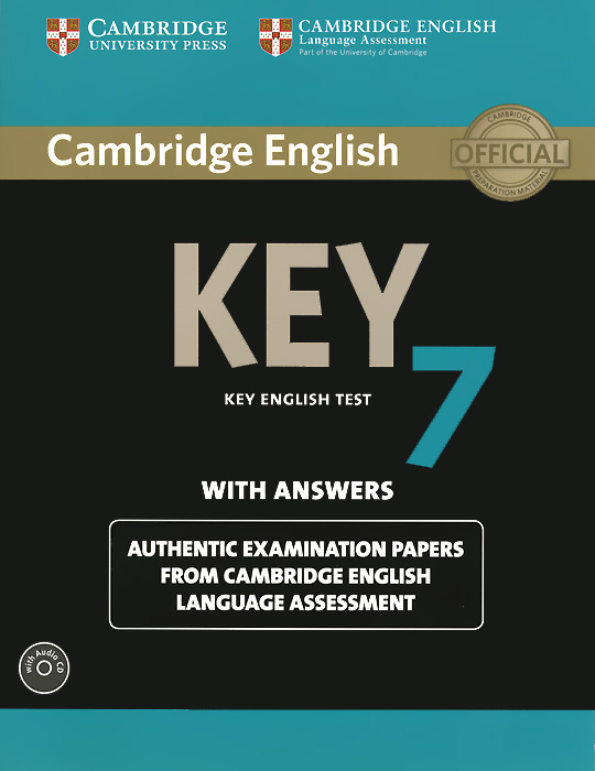 Cambridge English Key 7: Student's Book with Answers (+ CD-ROM) cambridge grammar for pet book with answers 2 cd