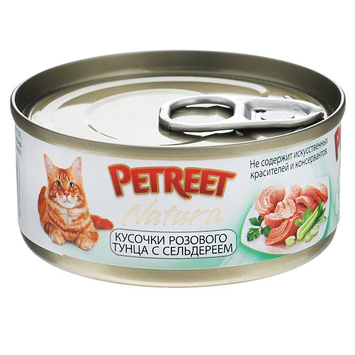 Консервы для кошек Petreet Natura, с кусочками розового тунца и сельдереем, 70 гА53071Полноценный сбалансированный корм для взрослых кошек всех пород. Консервы Petreet в виде нежного паштета изготовлены исключительно из натуральных продуктов и не оставят равнодушным ни одного питомца. В их состав входит до 64% основного компонента - мяса тунца, а это значит, что продукт богат протеином - источником бодрости вашей кошки. Для поддержания здоровья внутренних органов и зрения в состав консервов входит аргинин, таурин и незаменимые жирные кислоты Омега 3 и Омега 6. При умеренной калорийности в корме содержится высокий уровень белка (15%). Уникальный высокоусвояемый полноценный гипоалергенный рацион с низким показателем зольности (0,5%). Идеально подходит для кастрированных и стерилизованных кошек.Состав: тунец (60%), сельдерей (4%), рисовая мука (1%), витамины А, D3, Е. Анализ: влажность - 84,0%, белок - 15,0%, клетчатка - 0,3%, жир - 1,6%, зола - 0,5%, витамин А - 666 МЕ/кг, витамин D3 - 50 МЕ/кг, витамин Е - 20 МЕ/кг. Вес 70 г. Товар сертифицирован.