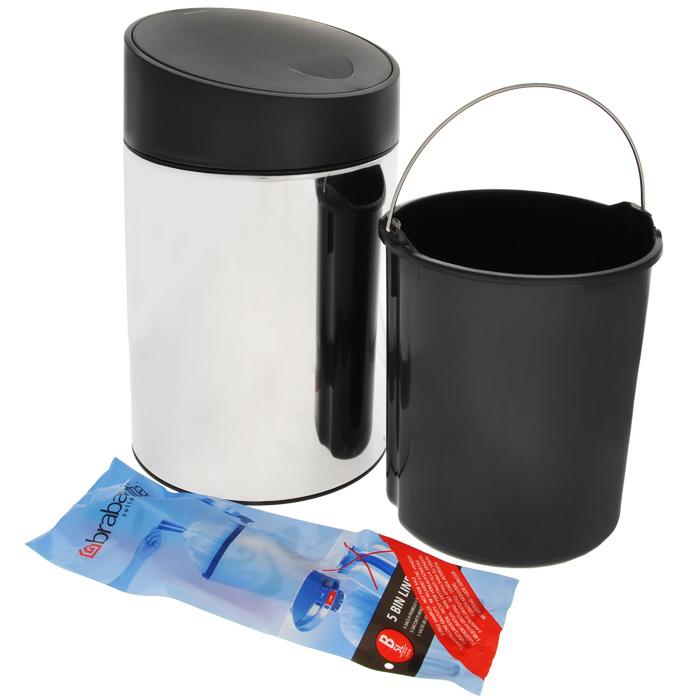 Ведро для мусора Brabantia Slide, 5 л. 397127397127Легко открывается движением одной руки, закрывается бесшумно и автоматически – уникальная система открывания/закрывания. Без соприкосновения с содержимым бака – крышка плавно поднимается и опускается. Настенное или напольное использование – в комплекте простой в установке опорный кронштейн. Бак снимается с настенного кронштейна для тщательной очистки стены. Удобная очистка – съемное пластиковое ведро. Предохранение пола от повреждений – пластиковый защитный обод. Всегда опрятный вид – идеально подходящие по размеру мешки PerfectFit (размер B).