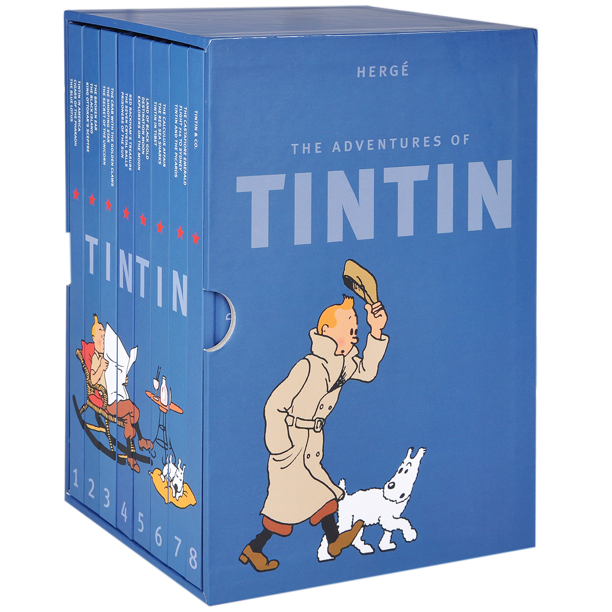The Adventures of Tintin (комплект из 8 книг) spring and autumn new children s autumn clothing and pants suit long sleeve cotton baby underwear home clothing two piece suit