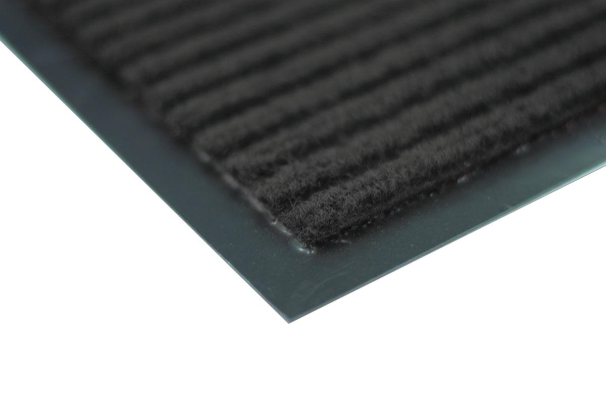 Коврик влаговпитывающий Vortex, ребристый, цвет: черный, 40 х 60 см22080Влаговпитывающий ребристый коврик Vortex выполнен из ПВХ и полиэстера. Он прост в обслуживании, прочный и устойчивый к различным погодным условиям. Предназначен для использования внутри и снаружи помещения. Лицевая сторона коврика мягкая и ребристая. Прорезиненная основа предотвращает его скольжение по гладкой поверхности и обеспечивает надежную фиксацию. Такой коврик надежно защитит помещение от уличной пыли и грязи.