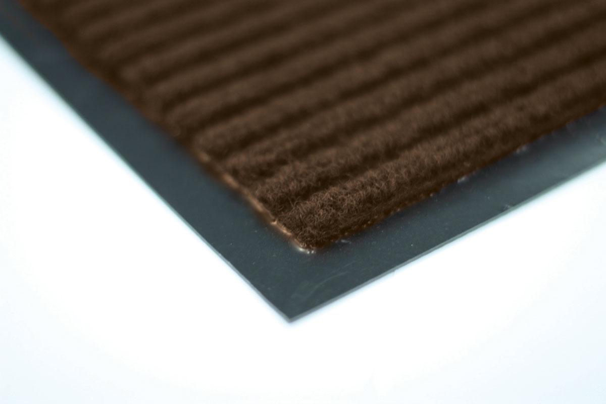 Коврик влаговпитывающий Vortex, ребристый, цвет: коричневый, 120 х 150 см коврик влаговпитывающий vortex samba мозаика