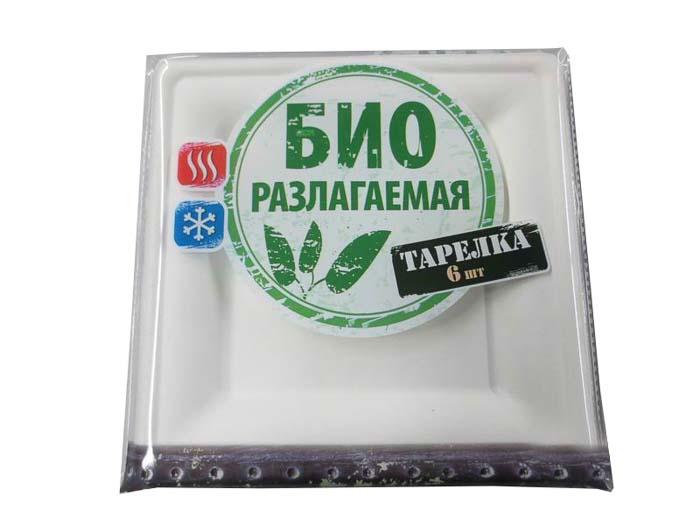 Тарелка биоразлагаемая Boyscout, цвет: белый, 20 х 20 см, 6 шт61703Набор Boyscout состоит из 6 одноразовых биоразлагаемых тарелок, изготовленных из сахарного тростника. Размер тарелок - 20 см х 20 см. После вскрытия упаковки тарелки можно использовать в течение 6 месяцев. Изделия предназначены для холодных и горячих пищевых продуктов и идеальны для использования в туристических походах. Материал: сахарный тростник.Размер тарелок: 20 см х 20 см.